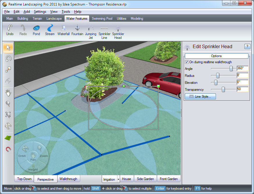 Create Detailed Sprinkler Designs