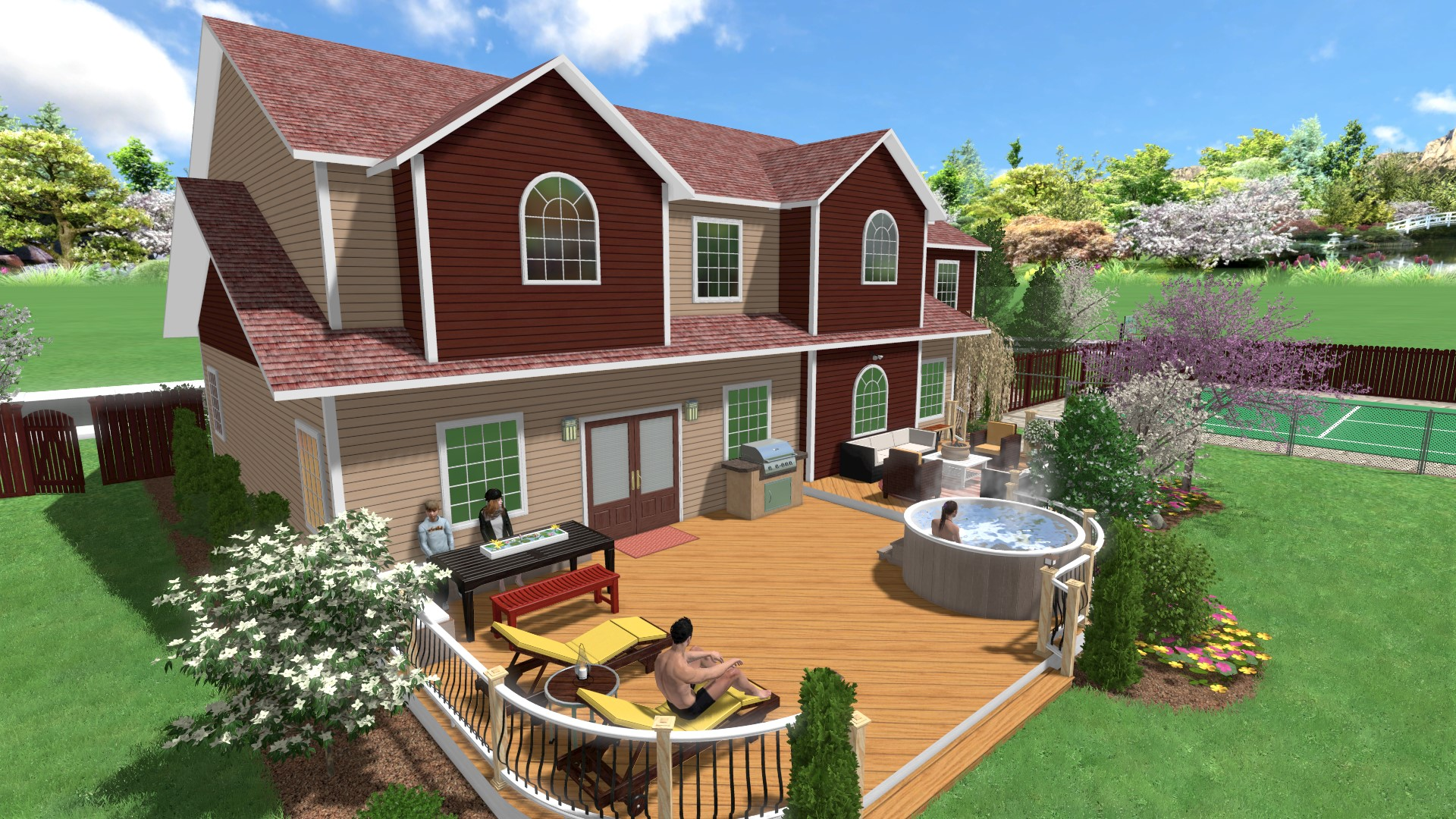 Home landscape software features for Backyard patio landscaping