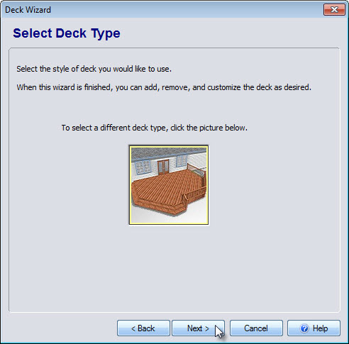 Click the image to select your deck style