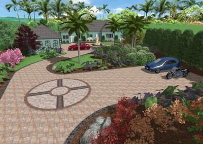 Driveway Sample Landscape Design