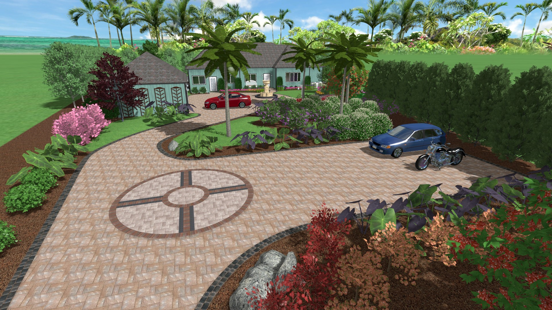 Landscape design software gallery for Backyard landscape design plans
