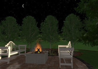 Fireplace at Night - Walkthrough View