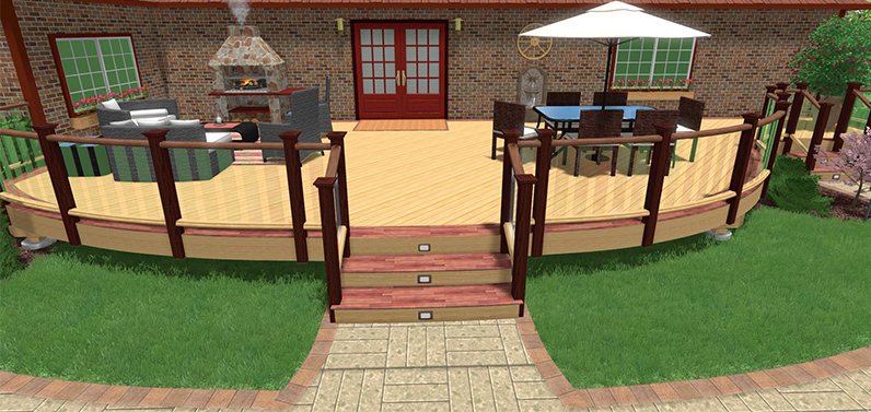 Backyard Landscape Design Software Free here is a patio design in 3d using sketchup Free Landscape Design Software Trial