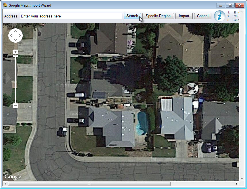 Use Google Maps to search for your address