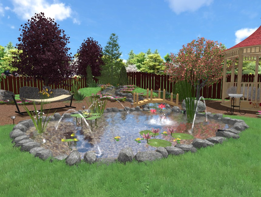 You have completed the jumping jets tutorial using Realtime Landscaping Pro