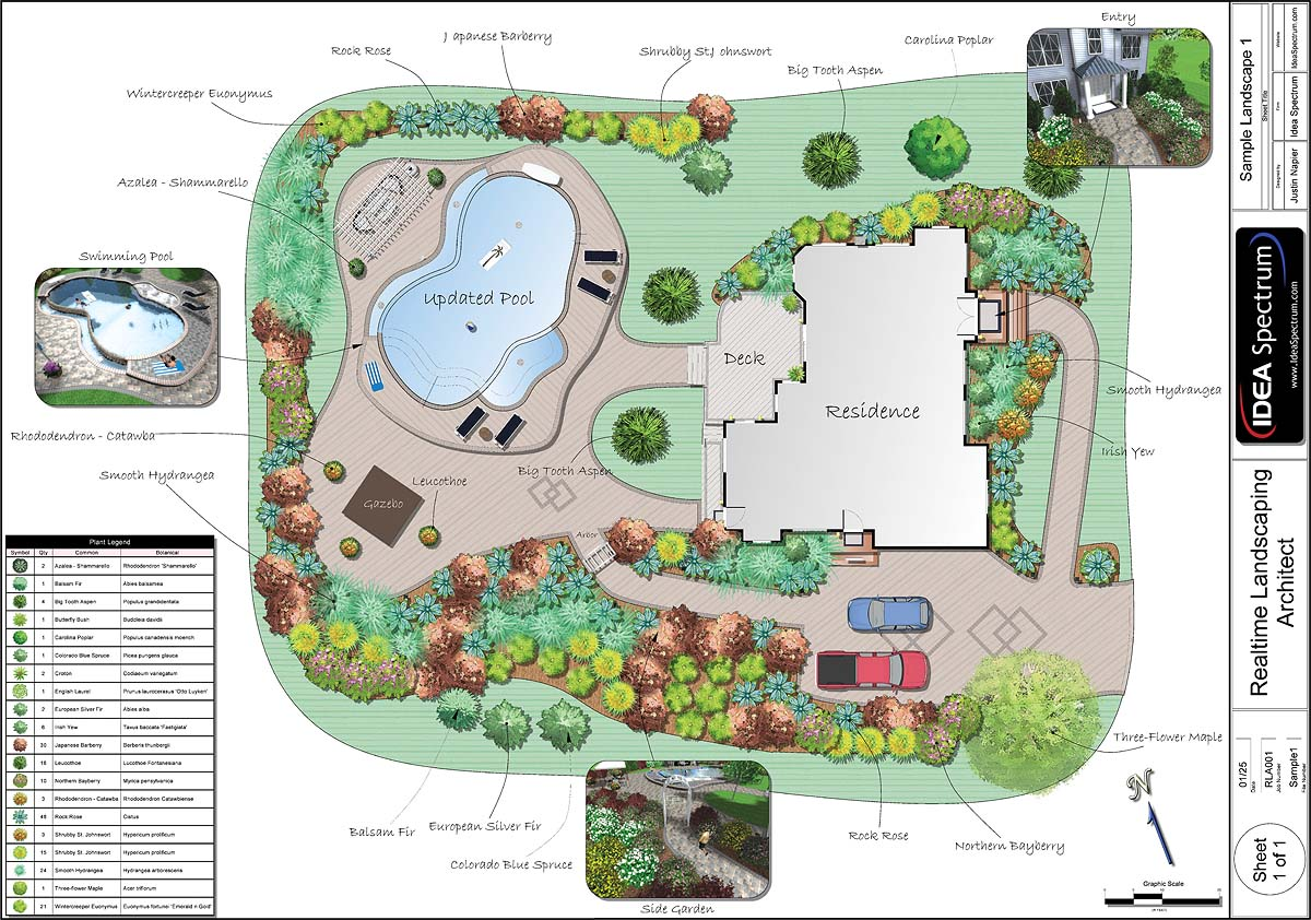 Professional landscape software for Garden design examples