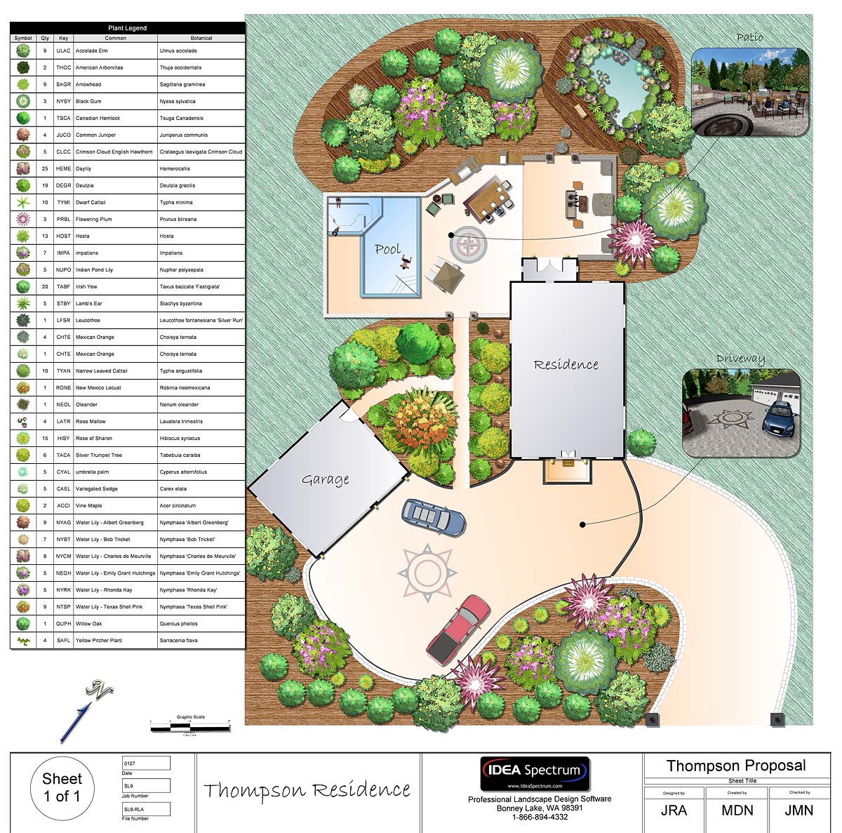 Professional landscape software for Garden design map