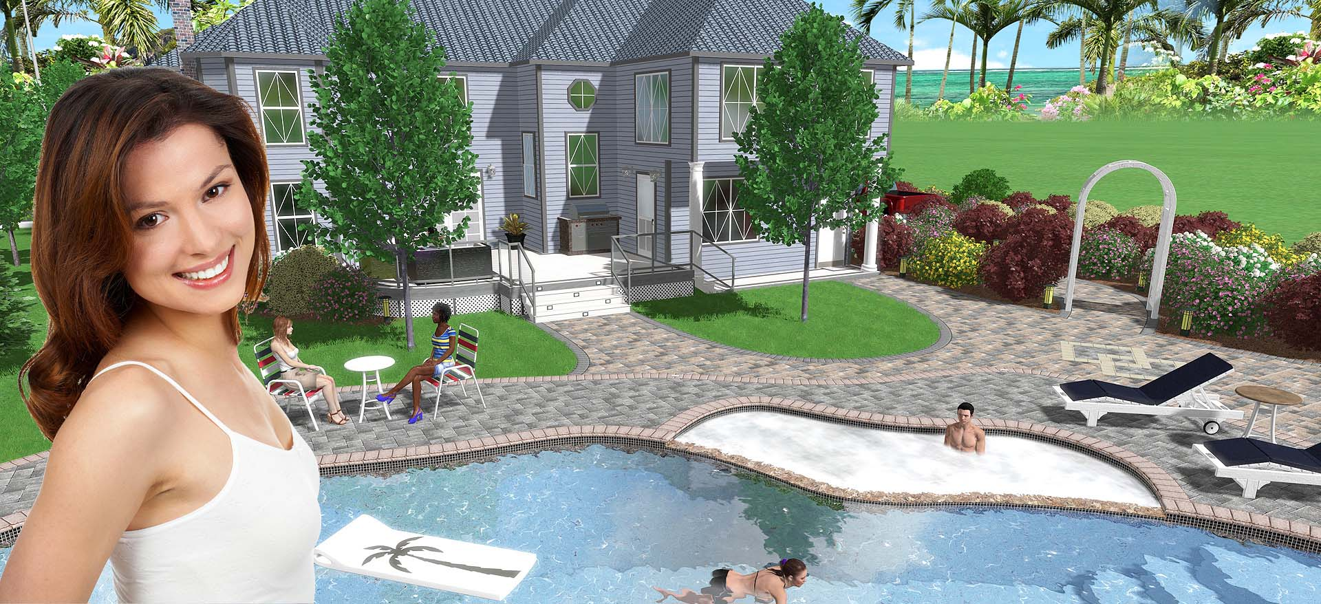 Landscape design software 3d landscaping software free for 3d pool design online free