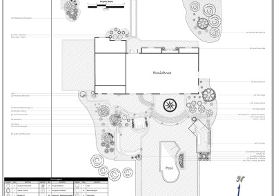 Black and White Landscape Plan