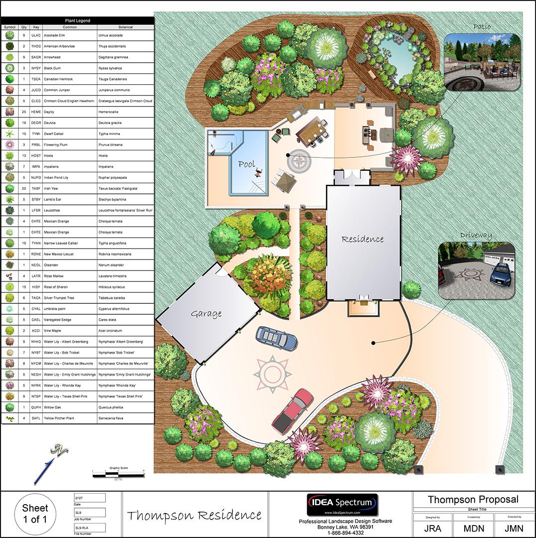 Landscape design software gallery for House plans with landscaping