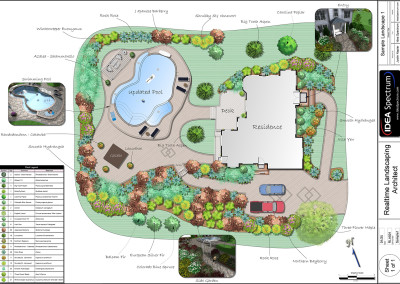 Landscape Plan with Pool