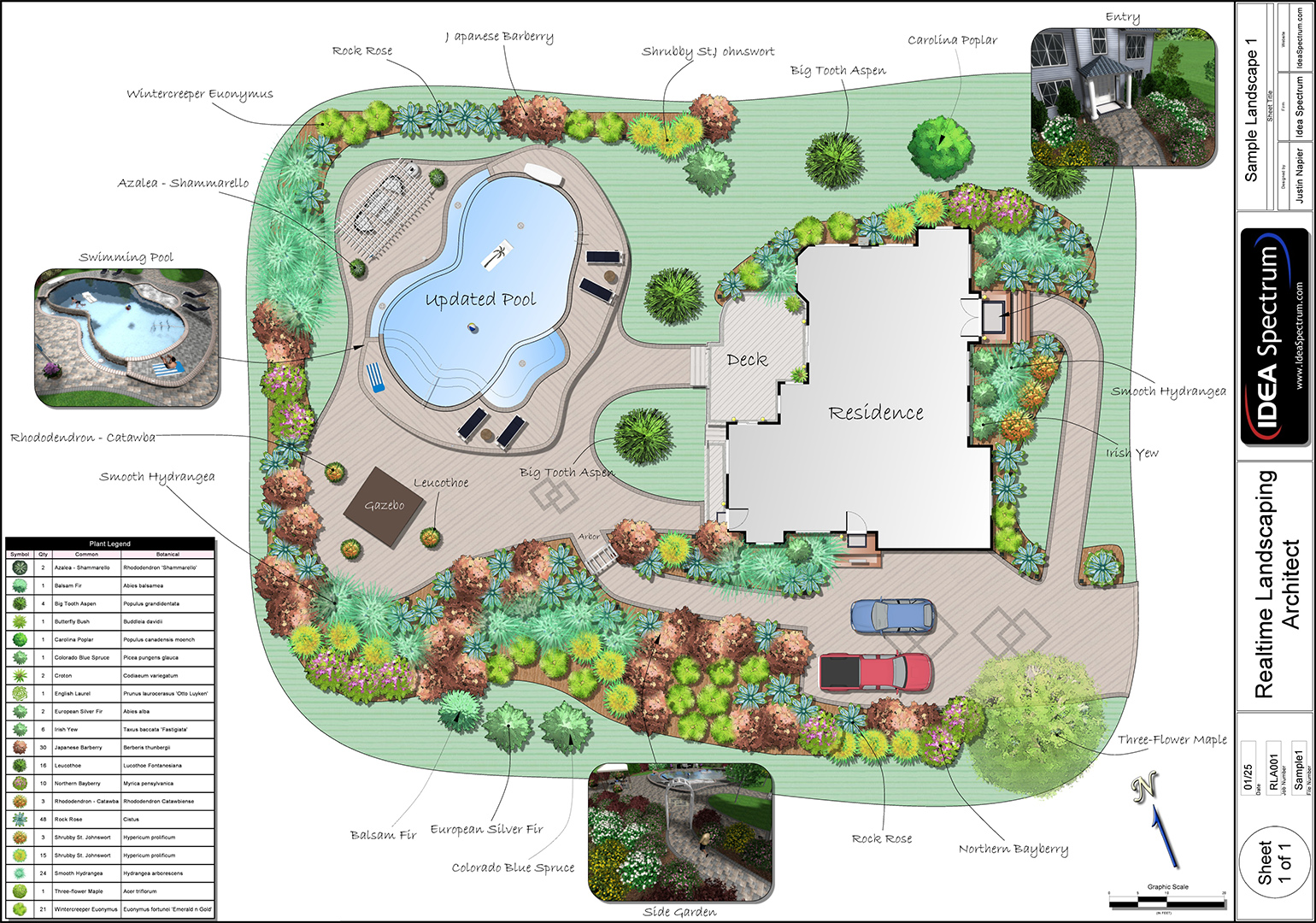Landscape design software gallery for Pool garden plans
