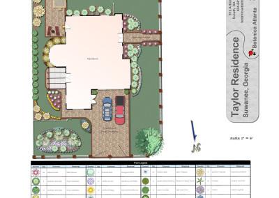 Landscape Plan with Driveway Design