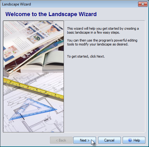 Start the Landscape Wizard
