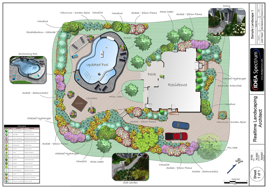 Professional landscaping software features for Garden landscape drawing