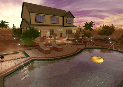 Swimming Pool Design in a Landscape
