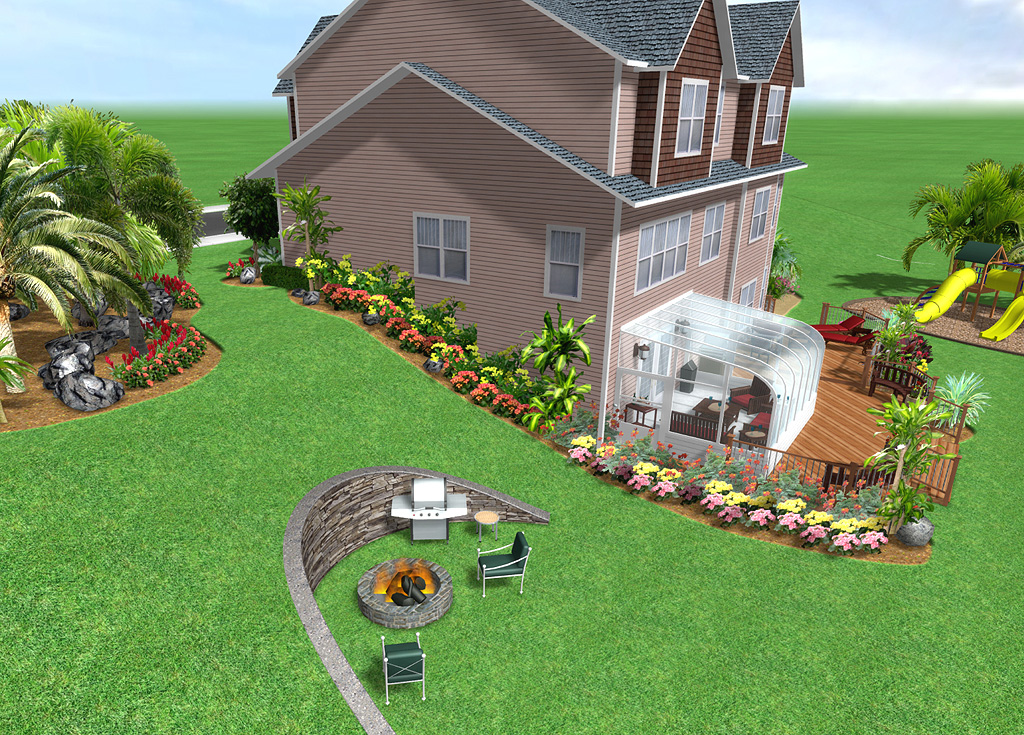 Home landscape software features for Home garden design program