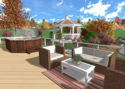 Deck Design with Outdoor Furniture