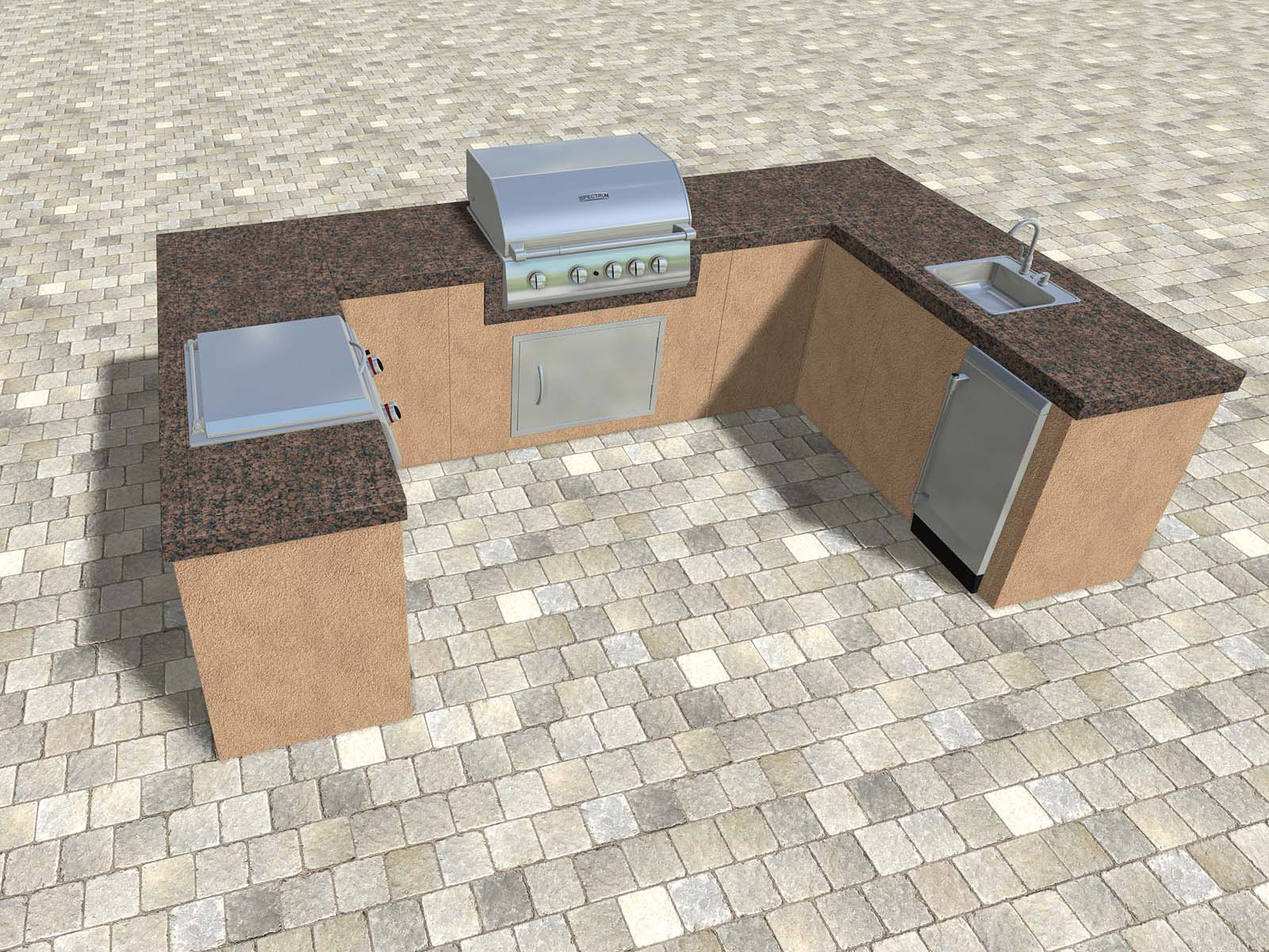 Outdoor Kitchen Created using the Modular Components