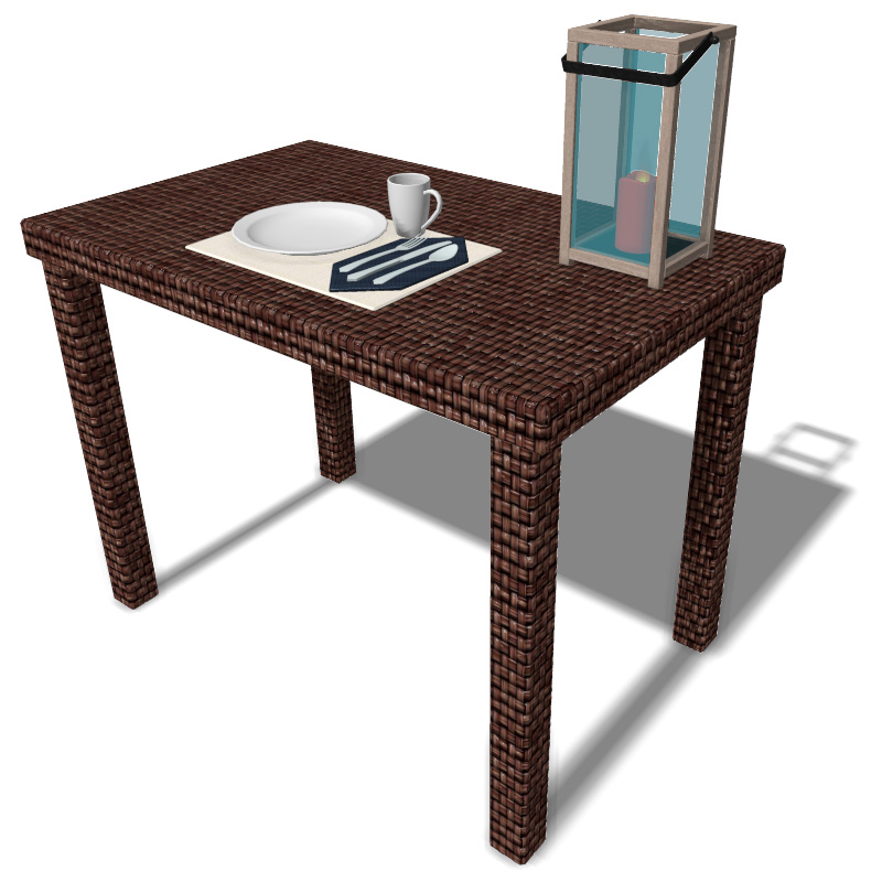 Outdoor Table with Setting
