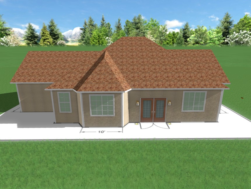 You have now completed building a house over an overlay using Realtime Landscaping Pro