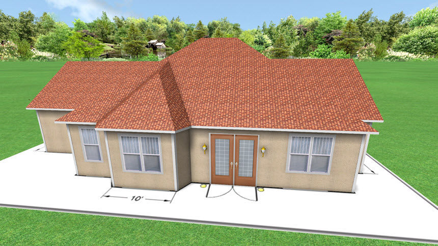 You have now completed building a house over an overlay using Realtime Landscaping Architect
