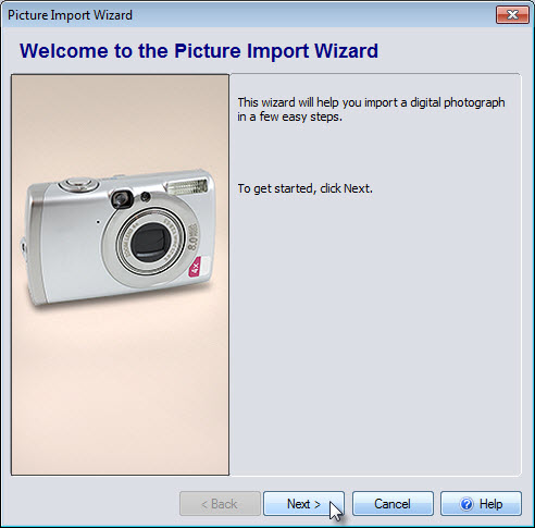 Get started adding an overlay with the Picture Import Wizard