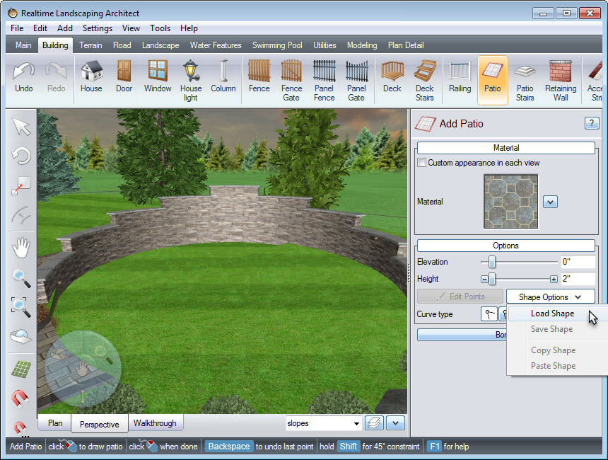 Add a patio to give character to your landscape design