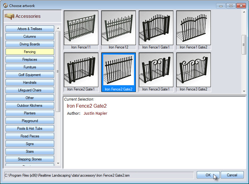Select a fence style to add to your photo