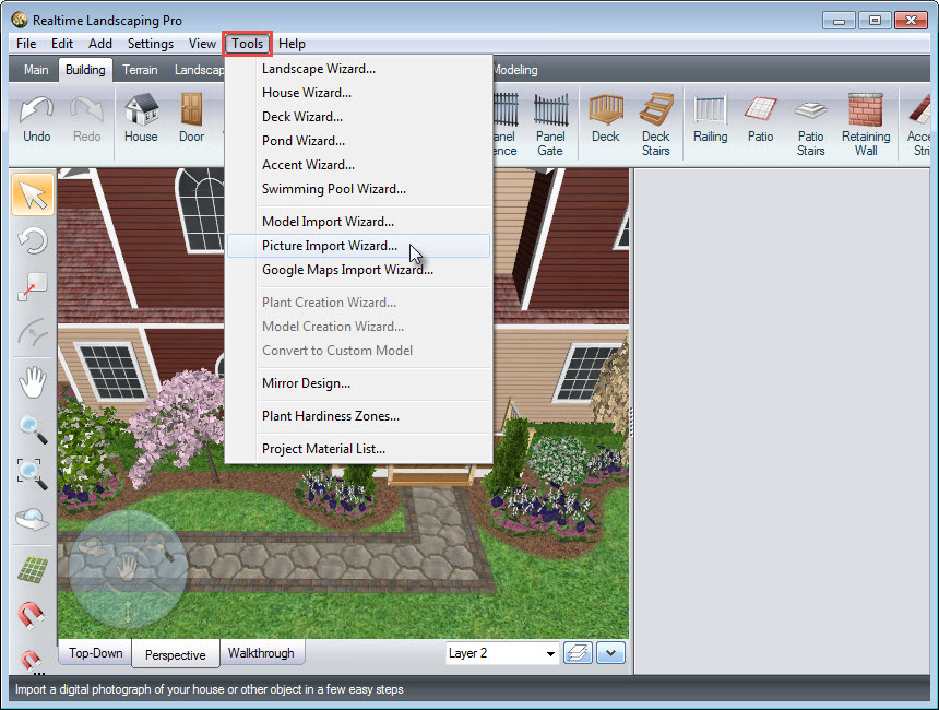 Click Tools, and then click Picture Import Wizard