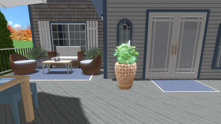 You have completed adding a picture of a potted plant to your landscape design using Realtime Landscaping Plus