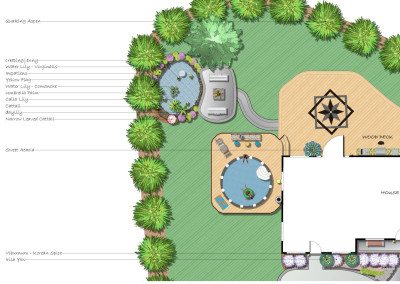 Plan with Pool in Deck