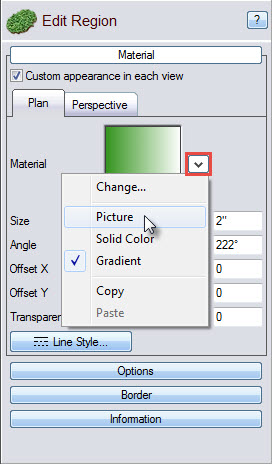Click Picture to insert a CAD drawing into your plan view