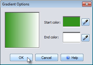 Select gradient start and end colors
