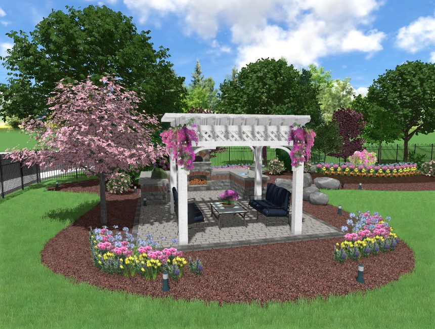 Completed adding an UltraRes 3D plant to your landscape design