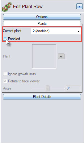 Enable any additions to your plant row