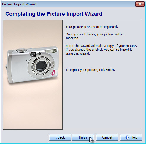 Complete the Picture Import Wizard