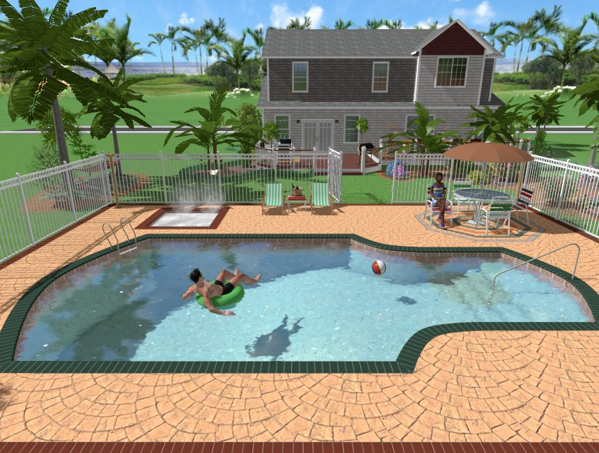 Adding a swimming pool for Create your own pool