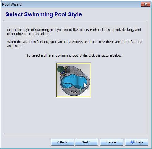 Click swimming pool image