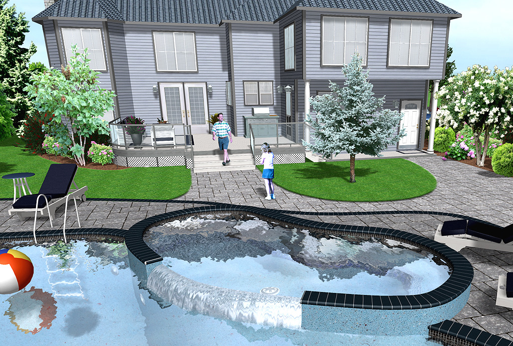 Drawing Swimming Pools : Professional landscaping software features