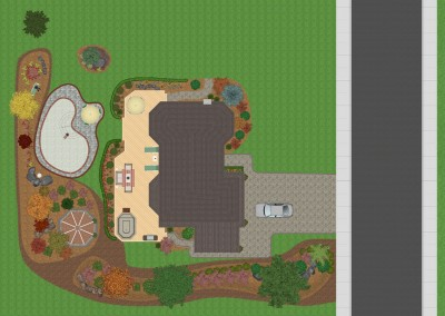 Realtime Landscaping Pro Top-Down View