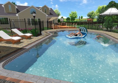 Sample 3D Swimming Pool Design