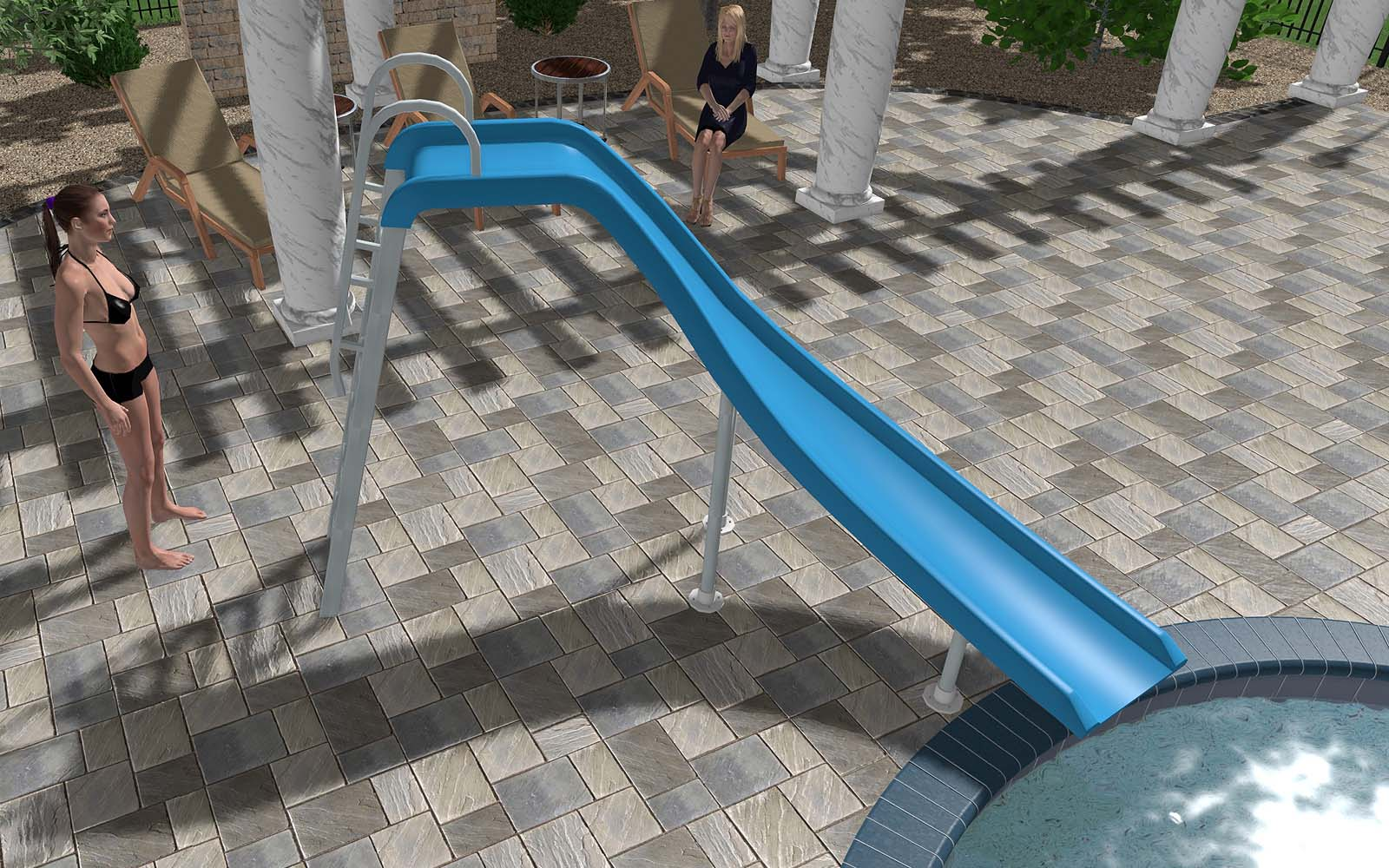 SR Smith Swimming Pool Slide