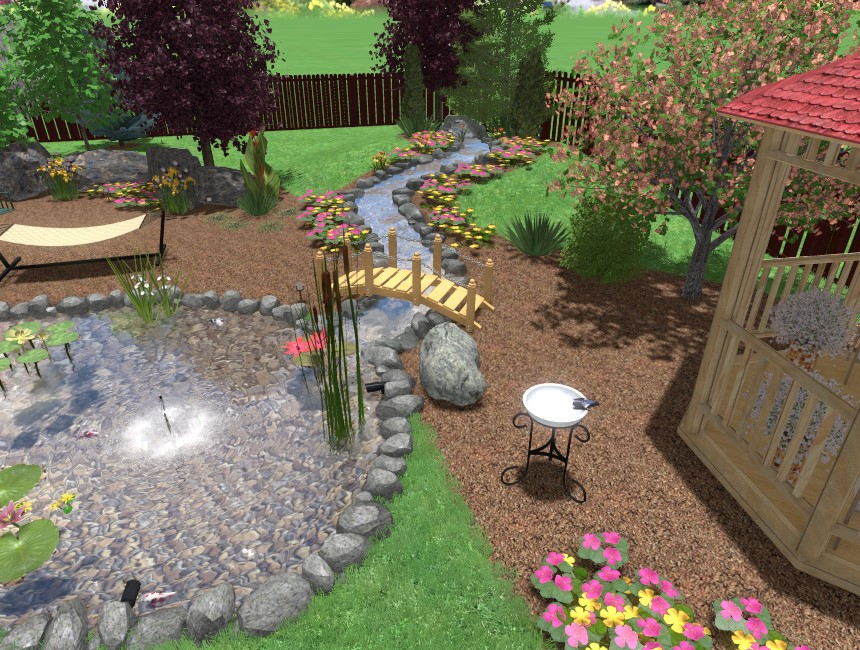 You have completed this tutorial and added a 3D stream using Realtime Landscaping Pro