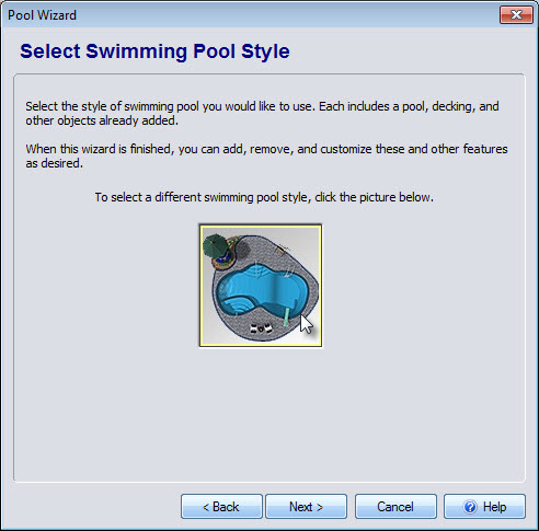 Click swimming pool image