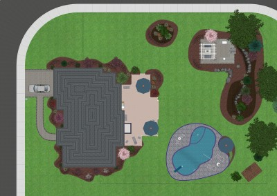 Top-Down View of a Landscape Design