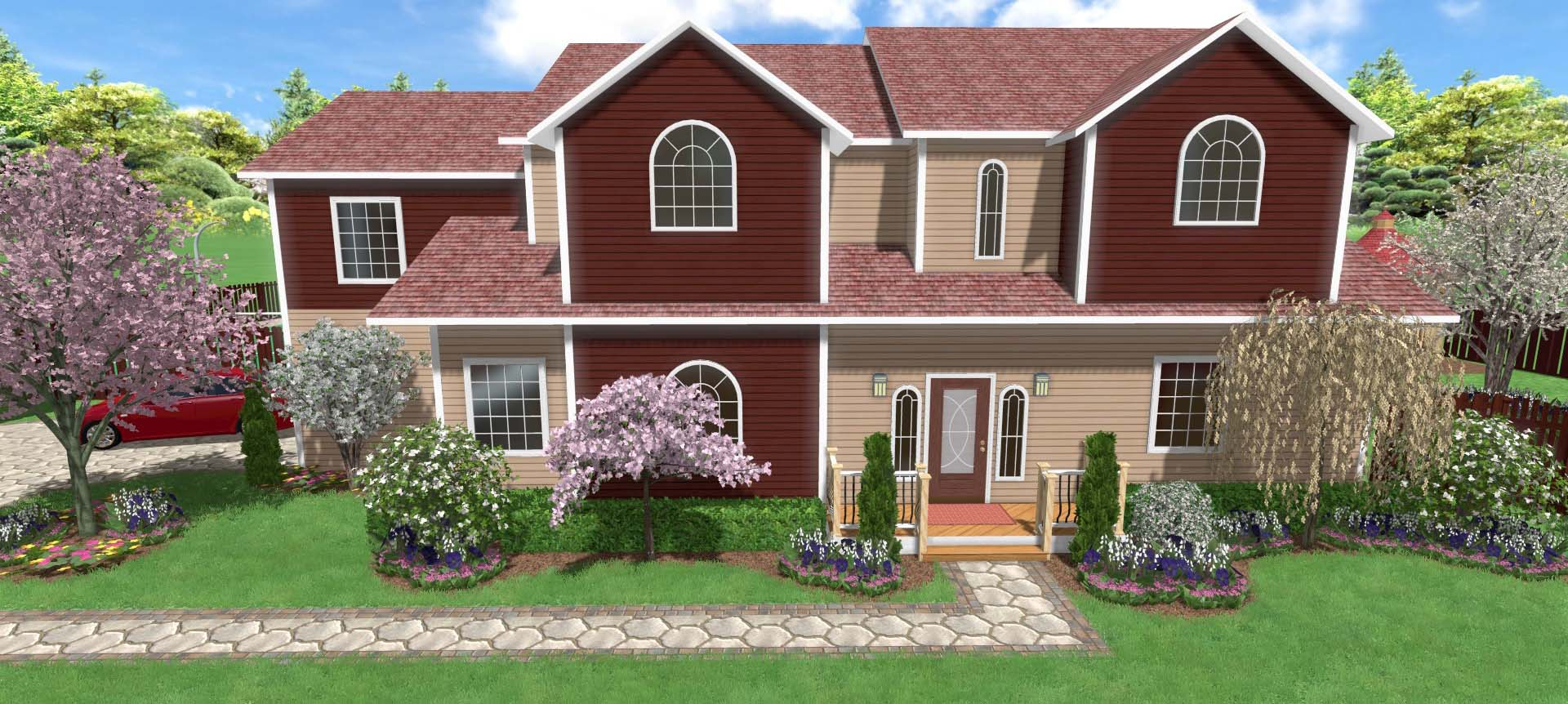 Home landscaping software for Garden design of house